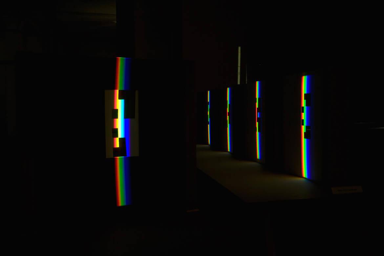 """Lichtinstallation aus der Ausstellung """"Working Shade"""""""