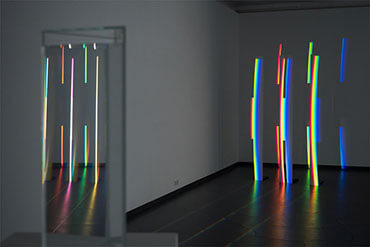 Detail einer Lichtinstallation von Ingo Nussbaumer in der Fotogalerie Wien 2015