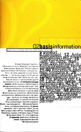 Zeigt die Ausgabe 01. Juli 1997, basis wien