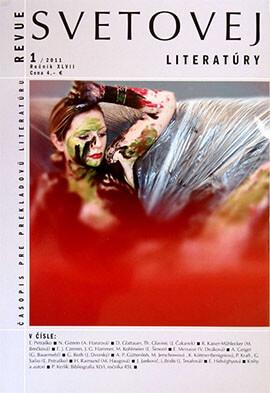 Zeigt das Magazin-Cover: Revue Svetovej Lieratúry »color proposition 068, 073«