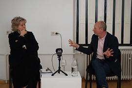 Foto von Silvie Aigner und Ingo Nussbaumer im Gespräch