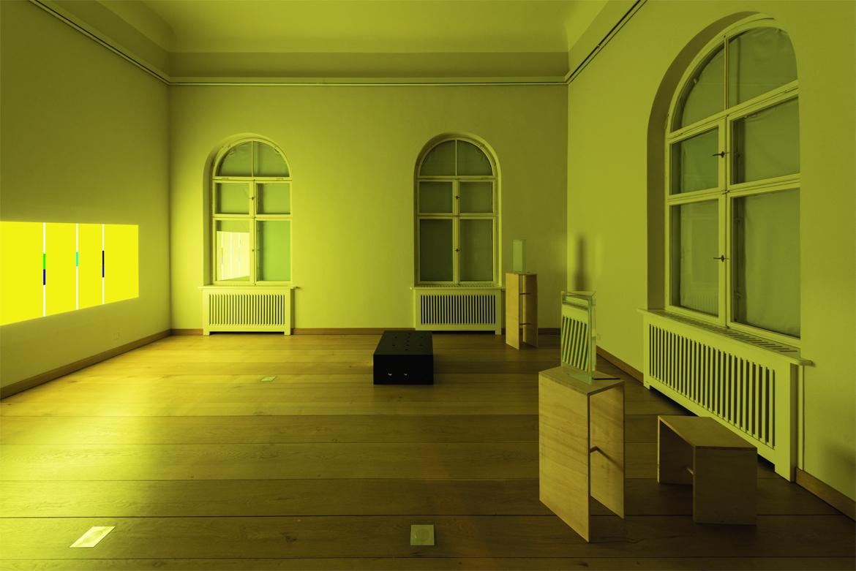 Lichtinstallation in der Ausstellung AugenWerk